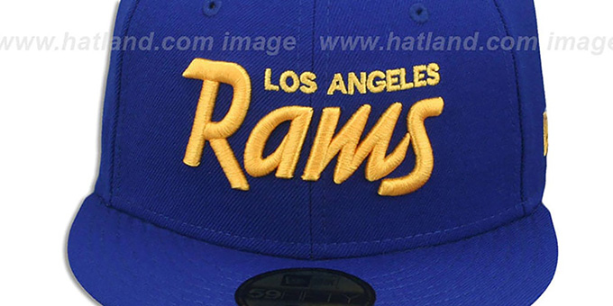 Rams 'SCRIPT TEAM-BASIC' Royal-Gold Fitted Hat by New Era