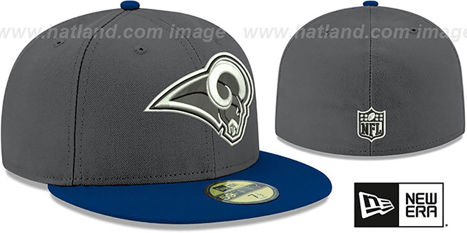 Rams 'SHADER MELT-2' Grey-Navy Fitted Hat by New Era