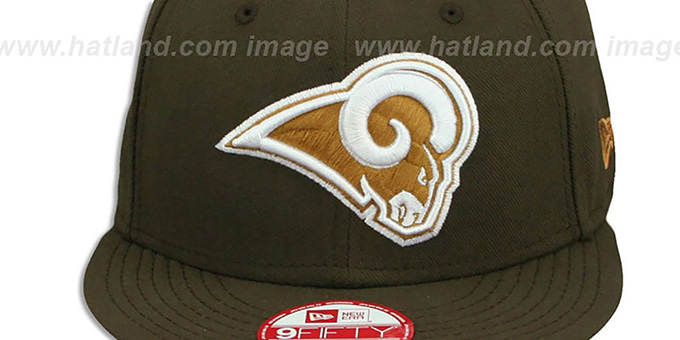 Rams 'TEAM-BASIC SNAPBACK' Brown-Wheat Hat by New Era