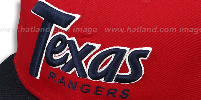 Rangers 'SNAP-IT-BACK SNAPBACK' Red-Navy Hat by New Era