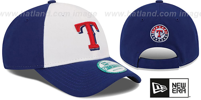 Rangers 'THE-LEAGUE STRAPBACK' White-Royal Hat by New Era
