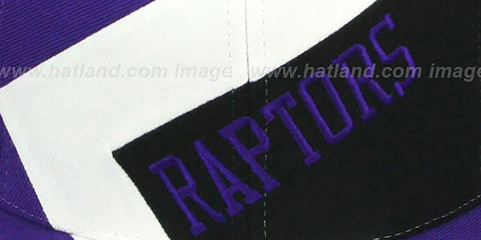 Raptors '1-ON-1 SNAPBACK' Purple-White-Black Hat by Mitchell & Ness