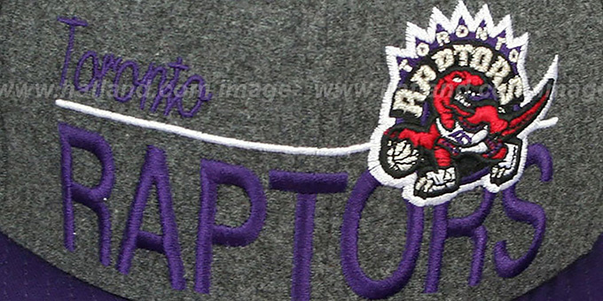 Raptors 'FLANNEL SNAPBACK' Grey-Purple Hat by New Era