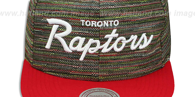 Raptors 'KNIT-WEAVE SNAPBACK' Multi-Red Hat by Mitchell and Ness