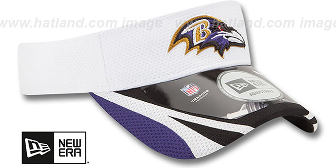 Ravens '2014 NFL TRAINING' White Visor by New Era