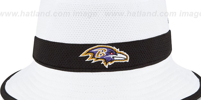 Ravens '2015 NFL TRAINING BUCKET' White Hat by New Era