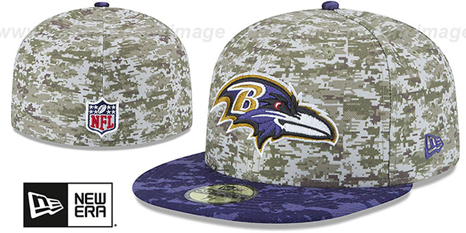 Ravens '2015 SALUTE-TO-SERVICE' Desert-Purple Fitted Hat by New Era