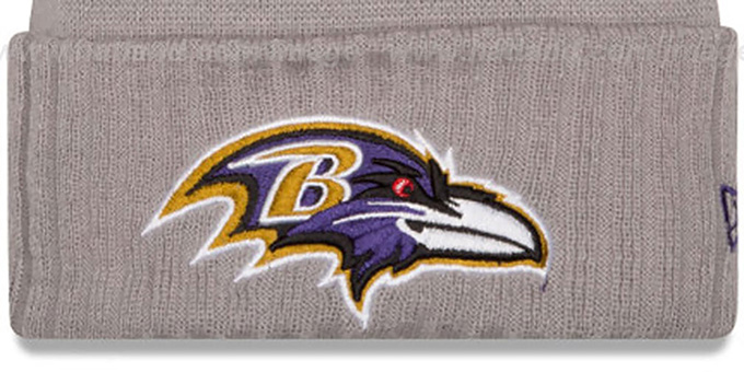 Ravens '2015 STADIUM' Grey-Black Knit Beanie Hat by New Era