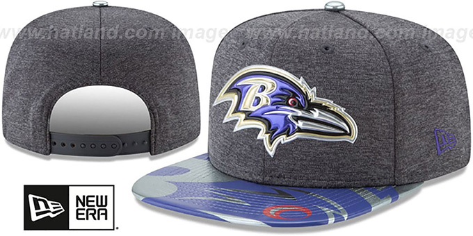 Ravens '2017 NFL ONSTAGE SNAPBACK' Charcoal Hat by New Era