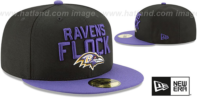 Ravens '2018 SPOTLIGHT' Black-Purple Fitted Hat by New Era