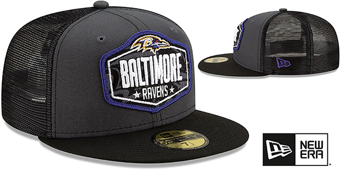 Ravens '2021 NFL TRUCKER DRAFT' Fitted Hat by New Era