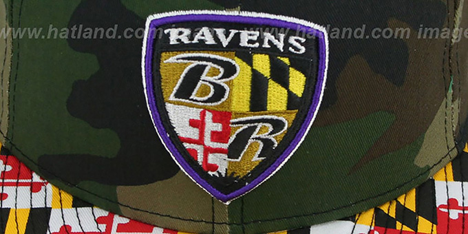 Ravens ALT 'MARYLAND-FLAG' Army Camo Fitted Hat by New Era