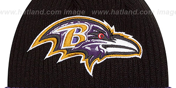 Ravens 'CHILLER FILLER BEANIE' Black-Purple by New Era