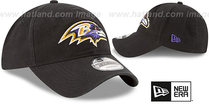 Ravens 'CORE-CLASSIC STRAPBACK' Black Hat by New Era
