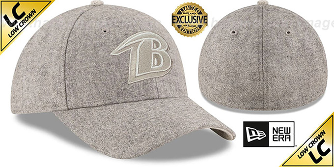 Ravens 'EK MELTON FABRIC MIX' Grey Hat by New Era