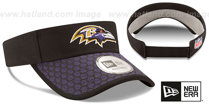 Ravens 'HONEYCOMB STADIUM VISOR' Black by New Era