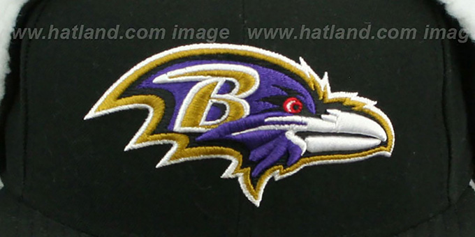 Ravens 'NFL-DOGEAR' Black Fitted Hat by New Era