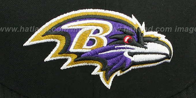 Ravens 'NFL JERSEY-STRIPE' Black Fitted Hat by New Era