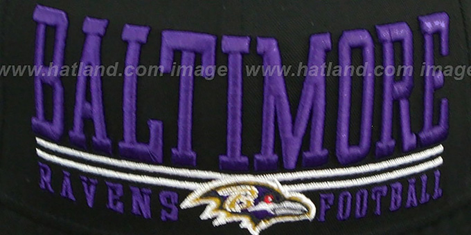 Ravens 'NFL LATERAL SNAPBACK' Black Hat by New Era