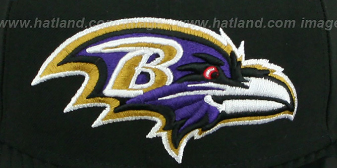 Ravens NFL 'MIGHTY-XL' Black Fitted Hat by New Era