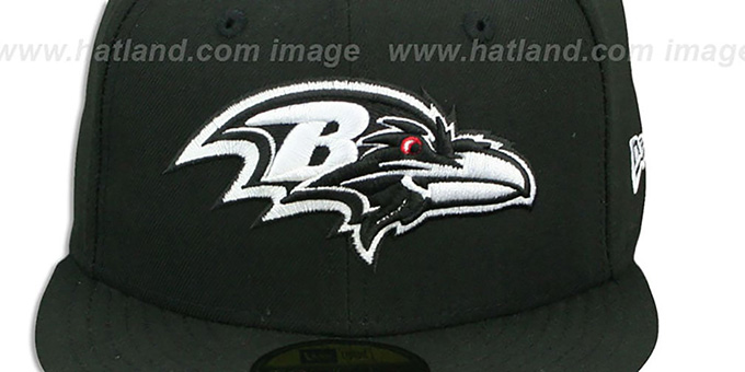 Ravens 'NFL TEAM-BASIC' Black-White Fitted Hat by New Era