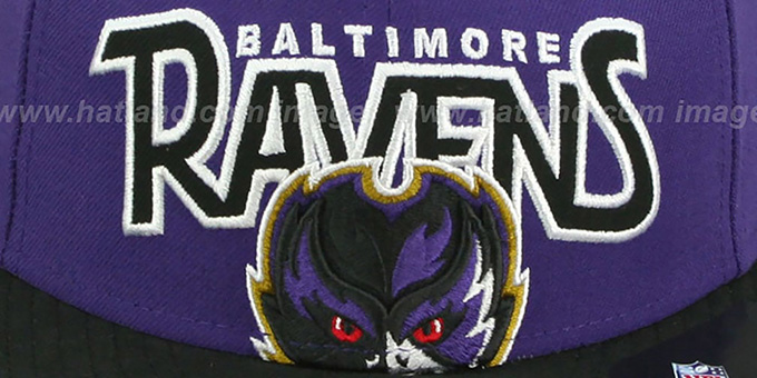Ravens 'PROFILIN' Purple-Black Fitted Hat by New Era