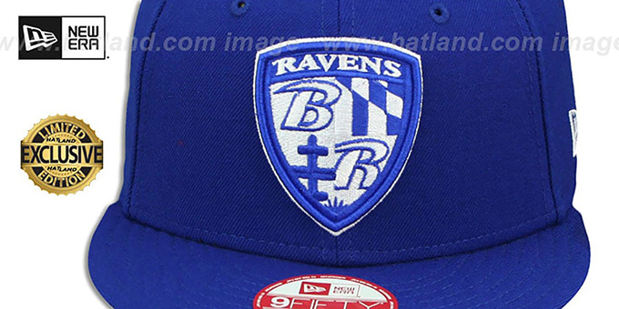 Ravens 'SHIELD TEAM-BASIC SNAPBACK' Royal-White Hat by New Era