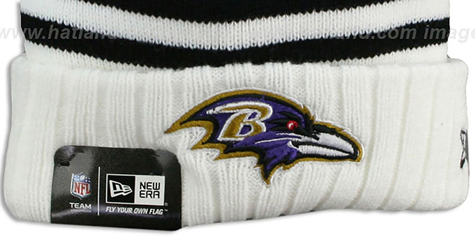 Ravens 'SNOWFALL STRIPE' Knit Beanie Hat by New Era