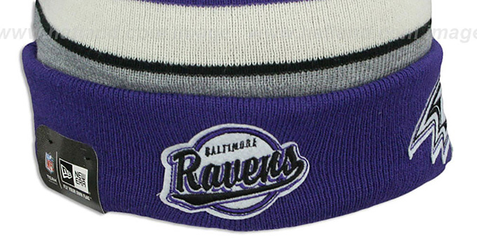 Ravens 'WINTER TRADITION' Knit Beanie Hat by New Era