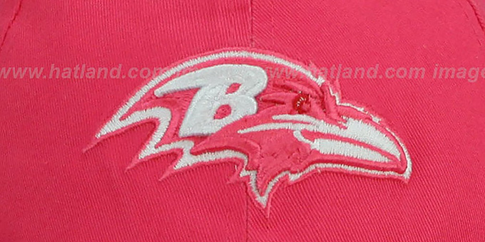 Ravens 'WOMENS ESSENTIAL' Pink Strapback Hat by New Era
