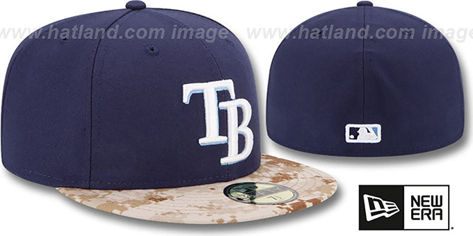 Rays '2015 STARS N STRIPES' Fitted Hat by New Era