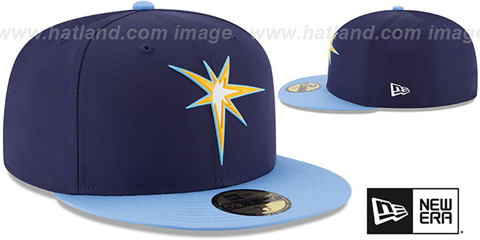 Rays '2018 PROLIGHT-BP' ALTERNATE-2 Navy-Sky Fitted Hat by New Era