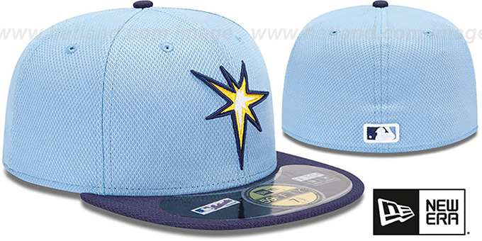 Rays 'MLB DIAMOND ERA' 59FIFTY Sky-Navy BP Hat by New Era