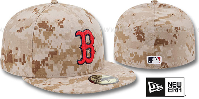 Red Sox 2013 'STARS N STRIPES' Desert Camo Hat by New Era