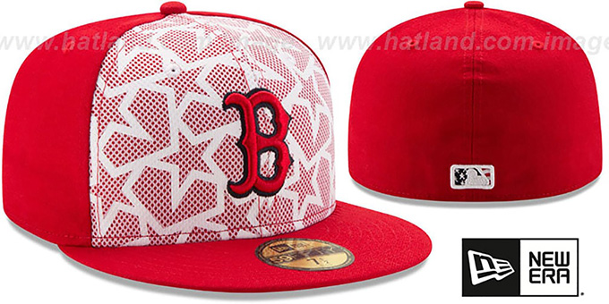 Red Sox '2016 JULY 4TH STARS N STRIPES' Fitted Hat by New Era