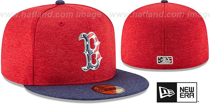 ef5aebdd68774 ... Red Sox  2017 JULY 4TH STARS N STRIPES  Fitted Hat by New Era ...