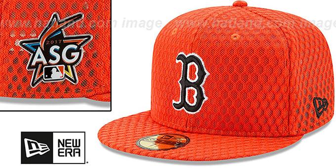 c9138dd056ac88 ... Red Sox '2017 MLB HOME RUN DERBY' Orange Fitted Hat by New Era ...