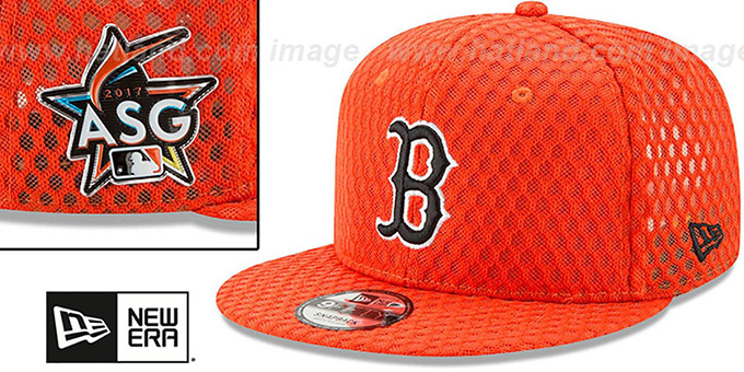 e853d0f8e ... Red Sox '2017 MLB HOME RUN DERBY SNAPBACK' Orange Hat by New Era ...