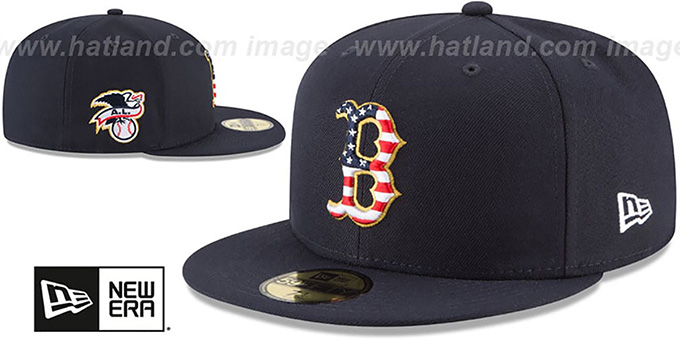 Red Sox '2018 JULY 4TH STARS N STRIPES' Navy Fitted Hat by New Era