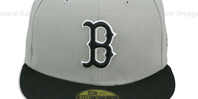 Red Sox '2T SPLIT TEAM-BASIC' Grey-Black Fitted Hat by New Era