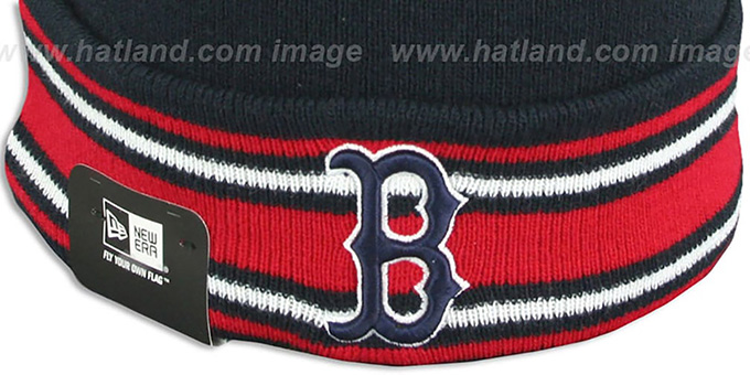Red Sox 'AC-ONFIELD' Navy Knit Beanie Hat by New Era