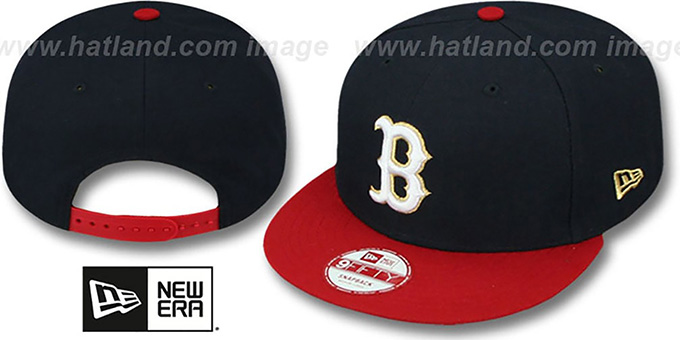 Red Sox 'CHAMPS-HASH SNAPBACK' Navy-Red Hat by New Era