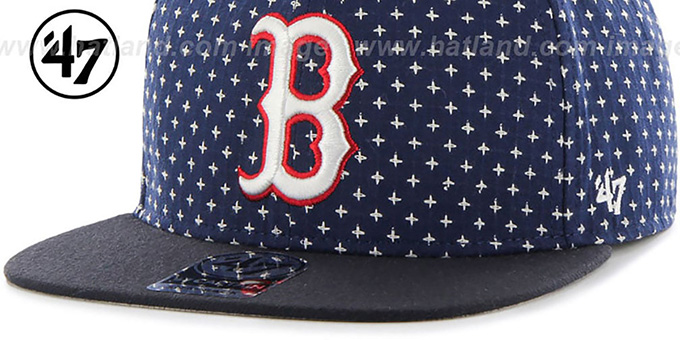 Red Sox 'CROSSBREED SNAPBACK' Navy Hat by Twins 47 Brand