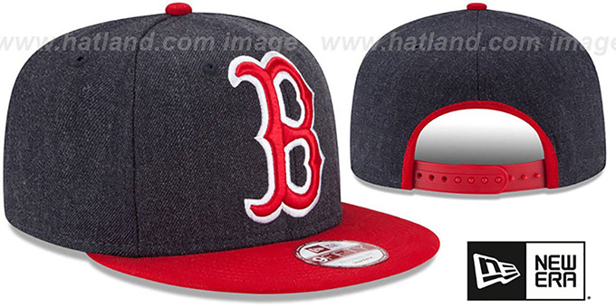 Red Sox 'LOGO GRAND SNAPBACK' Navy-Red Hat by New Era