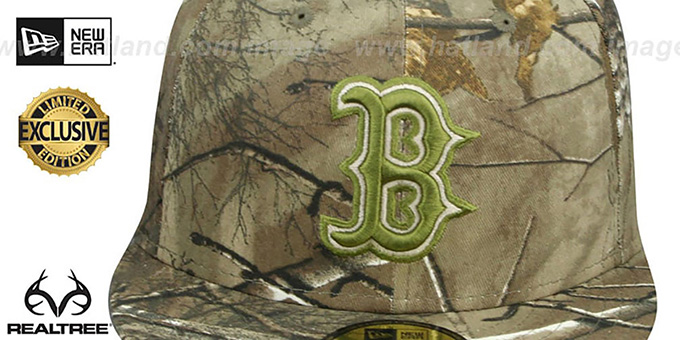Red Sox 'MLB TEAM-BASIC' Realtree Camo Fitted Hat by New Era