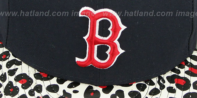 Red Sox 'OSTRICH-LEOPARD STRAPBACK' Hat by New Era