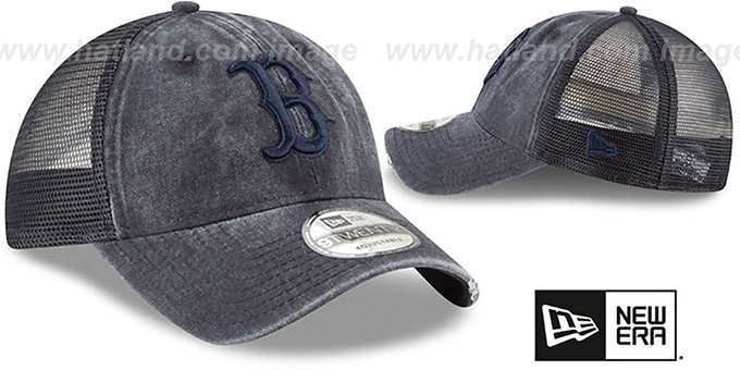 Red Sox 'TONAL-WASHED TRUCKER SNAPBACK' Navy Hat by New Era