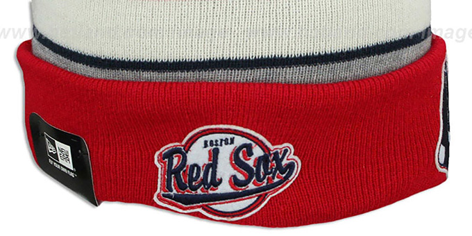 Red Sox 'WINTER TRADITION' Knit Beanie Hat by New Era