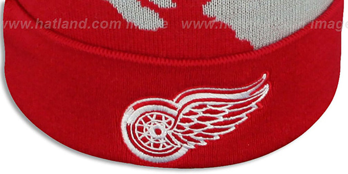 109028dfe95 Detroit Red Wings PAINTBRUSH BEANIE by Mitchell and Ness