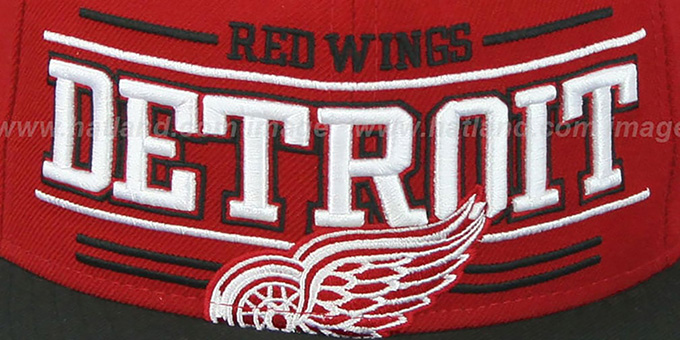 Red Wings 'RETRO-SMOOTH' Red-Black Fitted Hat by New Era